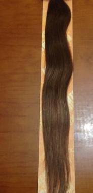 Extensiones castañas 70cm, pelo natural