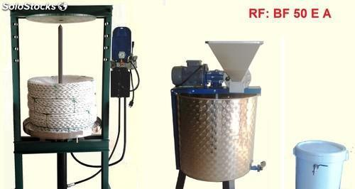 Mini almazara con prensa electrica y mezcladora