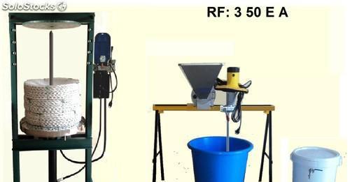 Minialmazara para aceite, con prensa eléctrica.