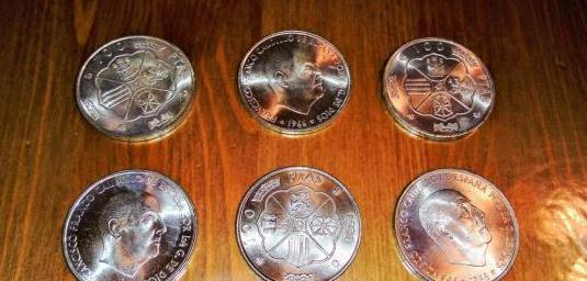 Moneda de franco 1966, plata.