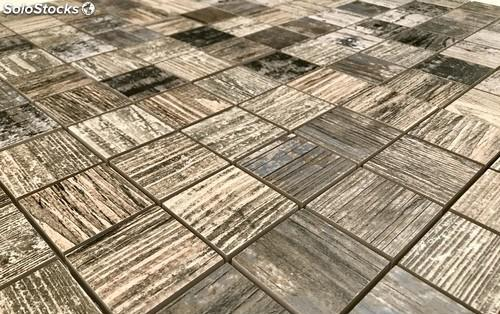 Mosaico madera vintage