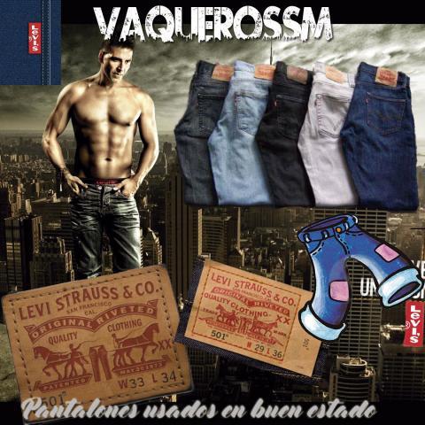 Pantalones levis 501 segunda mano en buen estado tallas y
