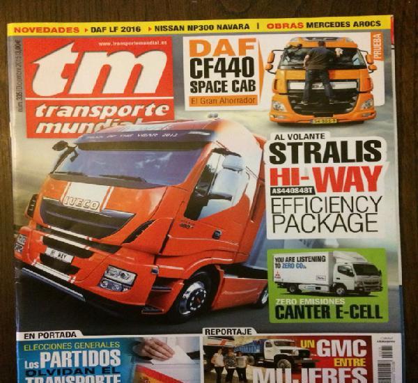 Revista transporte mundial número 335 camion pegaso comet
