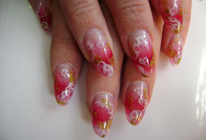 Uñas esculpidas acrílico/gel