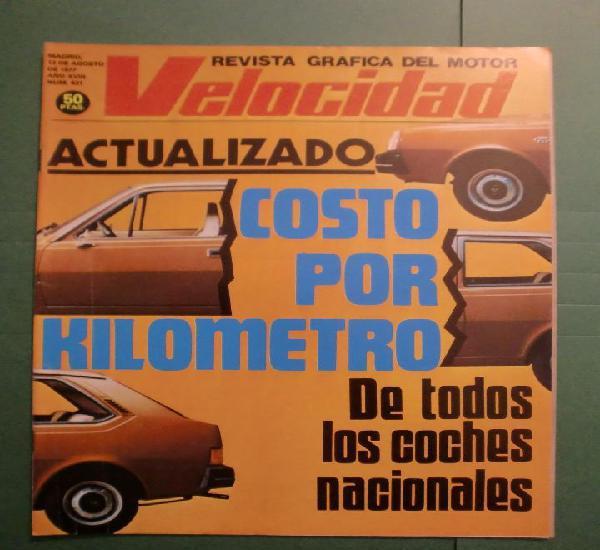 Velocidad nº 831 13 agosto 1977 costo por km. - chrysler