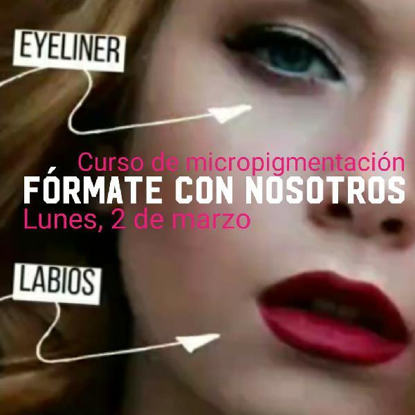 Curso de micropigmentación de eyeliner y labios
