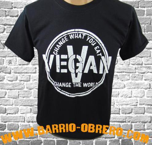 Camisetas manga corta - vegan - change what you eat