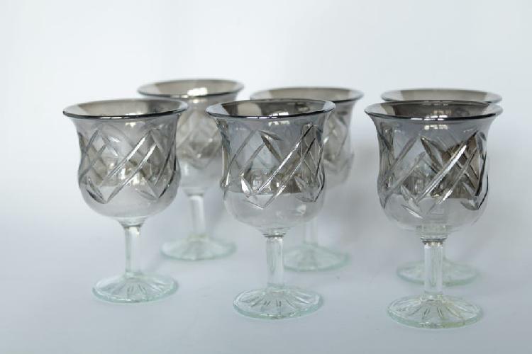 Copas de cristal ahumado (urss 70s)