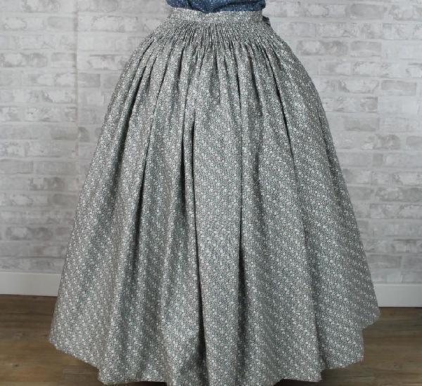 Falda de percal para indumentaria tradicional