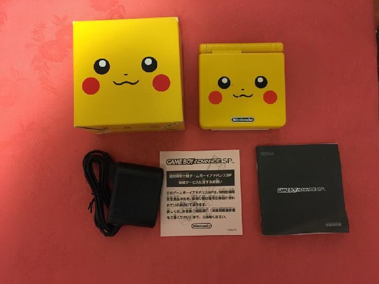 Gameboy advance sp edición pikachu