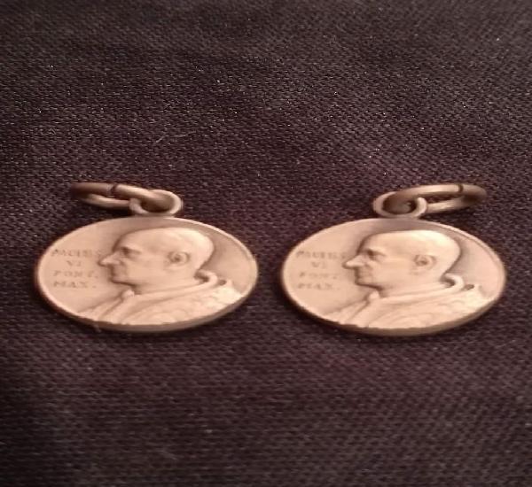 Lote de dos medallas de pablo vi con distinto reverso (k)