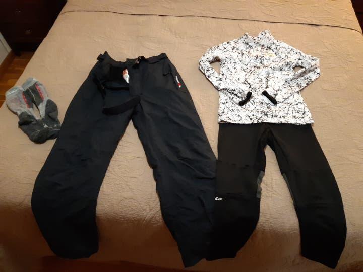 Lote ropa nieve ski esquiar