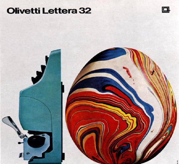 Maquina de esribir: olivetti lettera 32, 1963