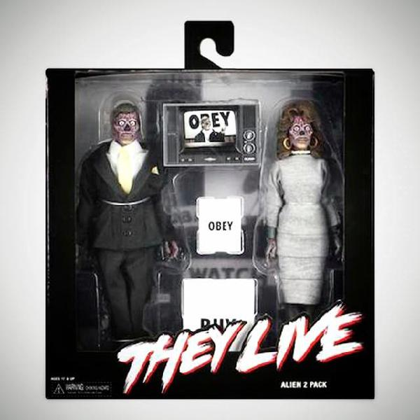"Neca they live alien 2-pack 8"" retro action figure"