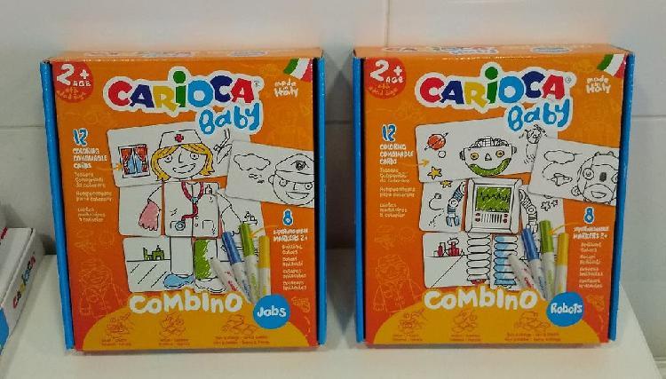 Puzzles coloreables carioca nuevos + 8 rotuladores
