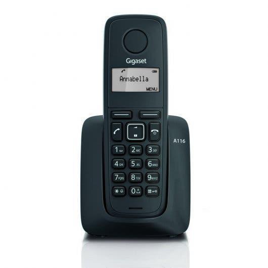 Teléfono inalámbrico gigaset a116 color negro