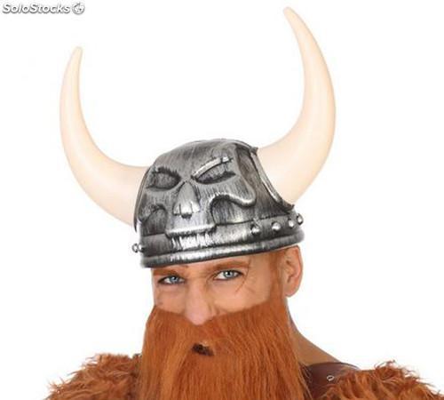 Casco Vikingo Calavera Gris
