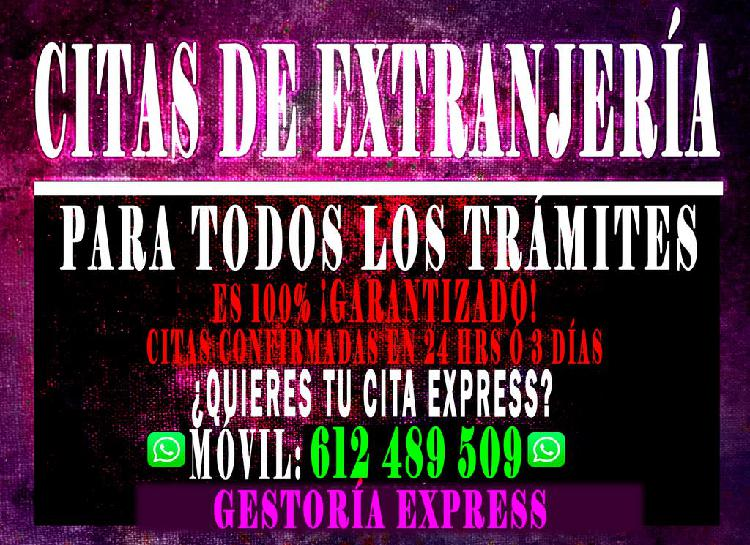 Extranjeria cita express