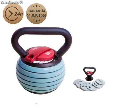 Pesa rusa kettlebell ajustable de 1 a 18 kg