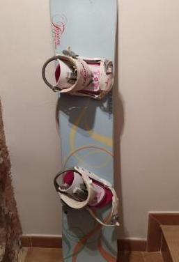 Tabla Snowboard, fijaciones y botas