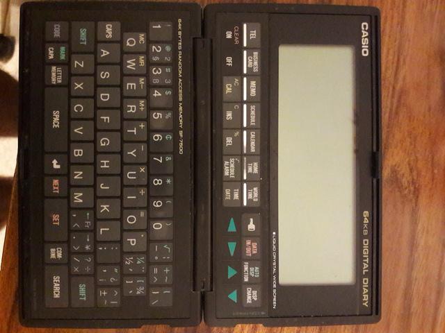 Digital diary sf 7500 usado,digital diary