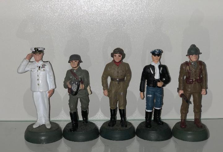5x Soldados de plomo Almirall Palou 1:32 metal 54mm Lote9