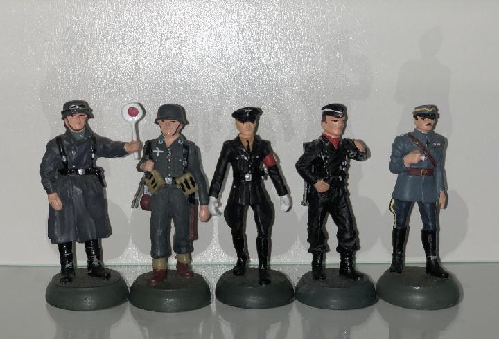 5x Soldados de plomo Almirall Palou segunda guerra alemanes
