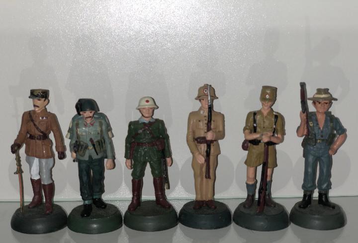 6x Soldados de plomo Almirall Palou 1:32 metal 54mm Lote3