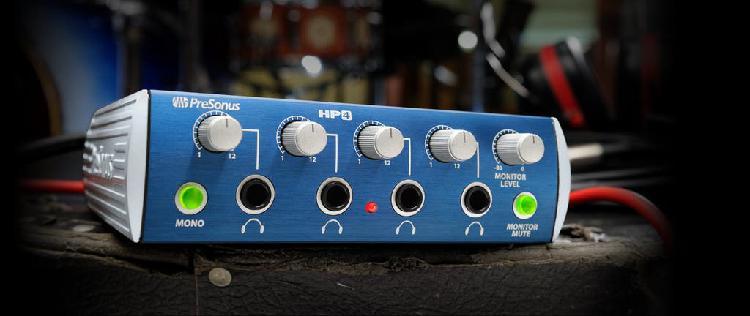 Amplificador auriculares estudio presonus hp4