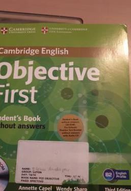 B2 students objetive first cambridge