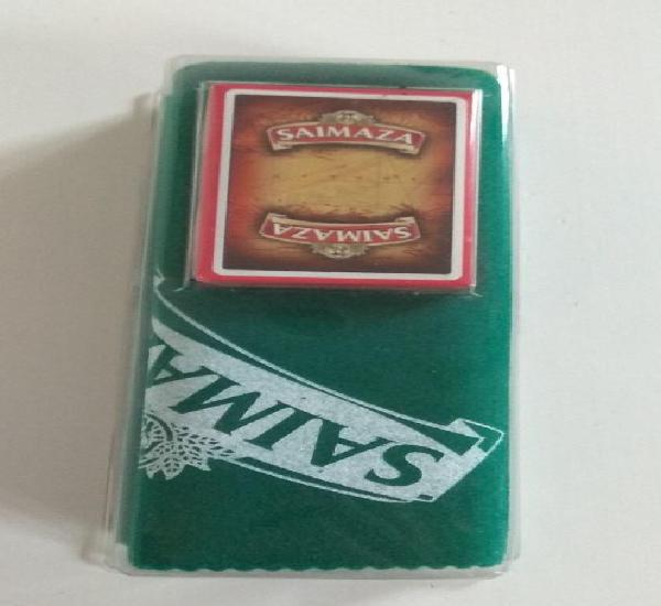 Baraja de cartas fournier publicidad cafe saimaza 50