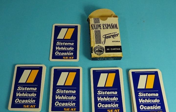 Baraja española con publicidad sistema vehículo ocasión