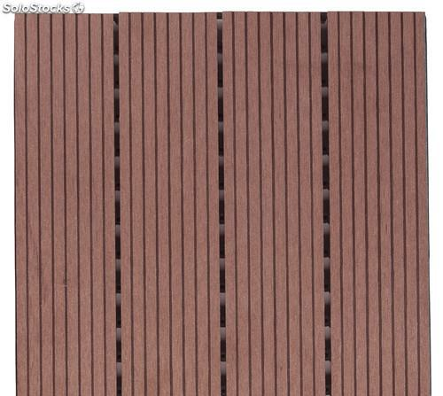 Baldosa exterior composite chocolate 500x500 mm