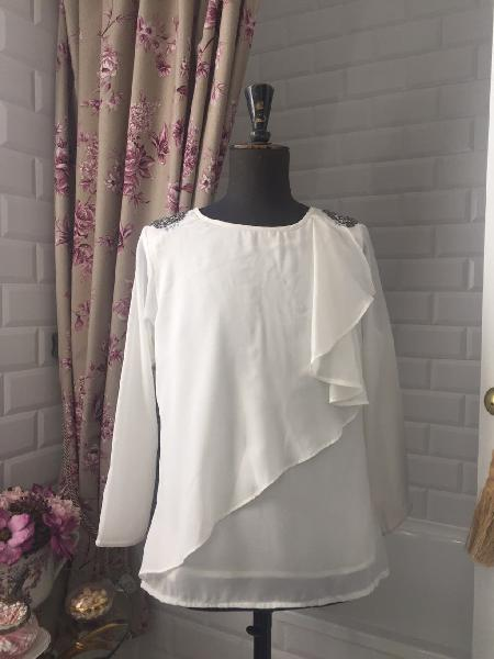 Blusa blanca almatrichi