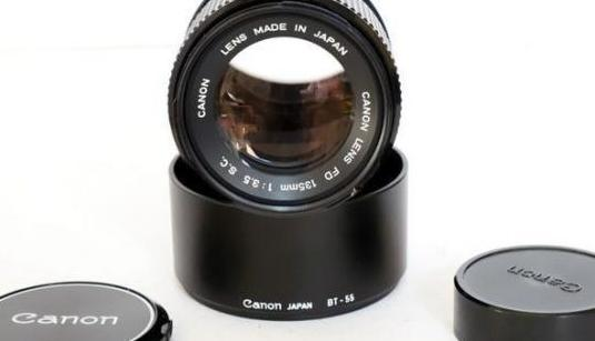 "Canon fd 135mm. f3.5 s.c. ""top"""
