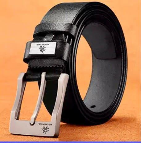 Cinturón de piel de caballero