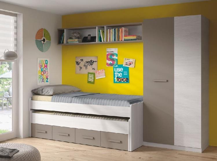 Cama nido+colchón+armario