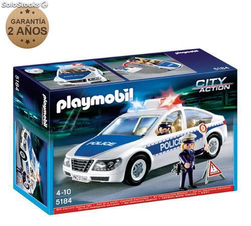 Coche de policía con luces y sonido playmobil