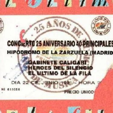 El ultimo de la fila en directo, madrid 1991