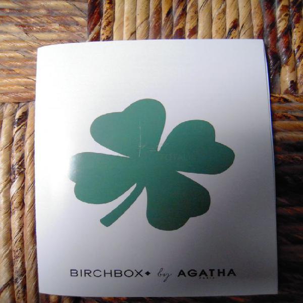 Folleto birchbox by agatha parís