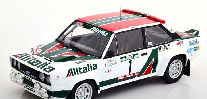 Fiat 131 abarth rally portugal alitalia 1978 escala 1/18 de