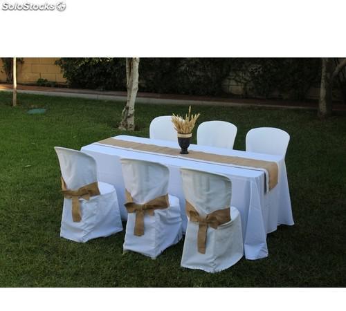 Funda de sillas de catering.