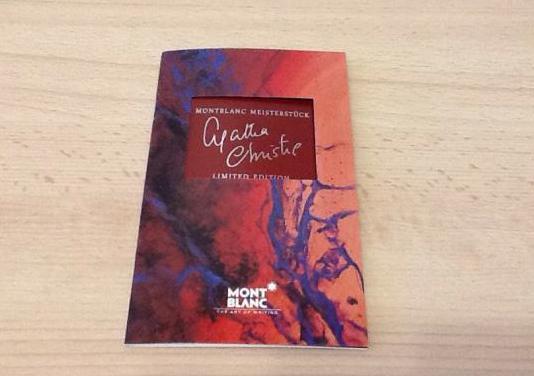 Garantia montblanc agatha christie edición