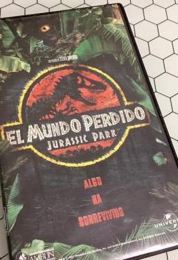 Jurassic park: el mundo perdido en vhs.