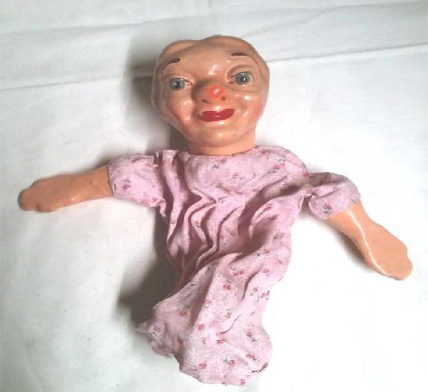 La moños guiñol titere marioneta cartón piedra años 50,