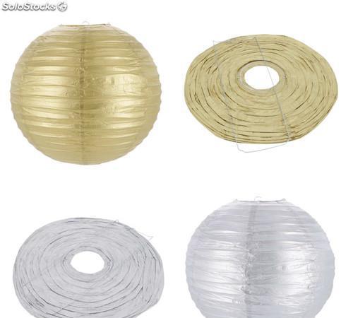 Linterna papel redondo lacado 40 cm