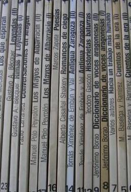 Lote 18 libros costumbristas aragoneses. 1986