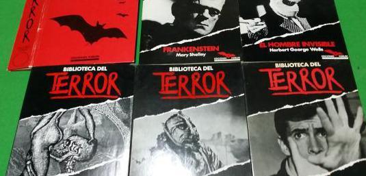 Lote 5 libros biblioteca del terror y tapas