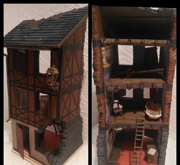 Lote casa de normandía 1/35 montada y pintada con detalles