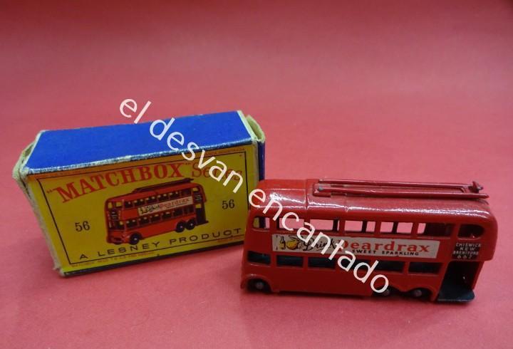 Matchbox. trolley bus. en caja original faltan solapas